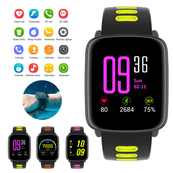 GV68 Smart Watch Waterproof Ip68 Heart Rate Monitor Bluetooth Smartwatch Swimming with Replaceable Straps for IOS Android