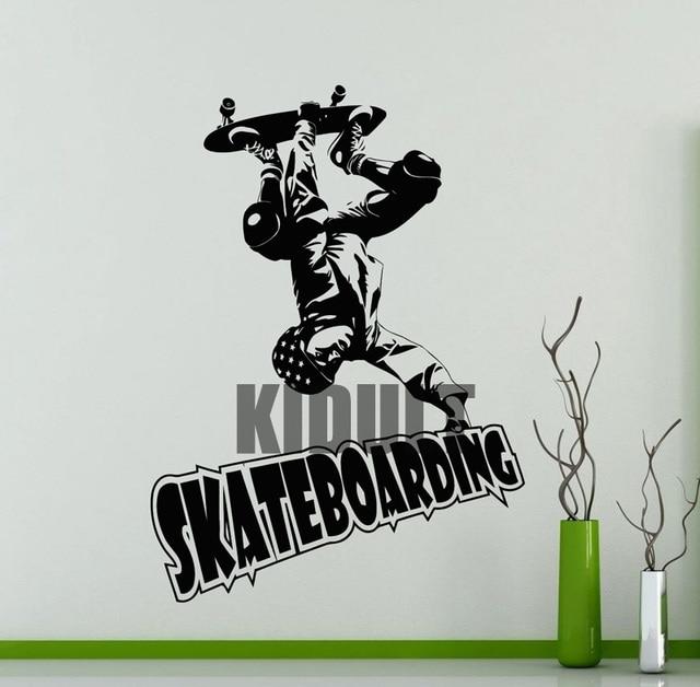 Creative Wall Decals Personalized Skateboard Skateboard Wallpaper ...