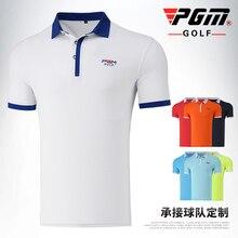 Мужская футболка гольф спорт лето короткий рукав мужская ткань полиэстер отложной Спортивная толстовка с воротником-стойкой Марка PGM