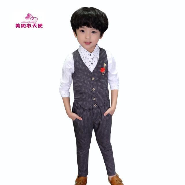 74b4b1141e9cc US $16.97 17% OFF|Boys Formal Clothing Sets Spring Autumn Boys Wedding  Clothes Vest & Pants 2 Pcs Kids Gentleman Clothes Suit 2 3 4 5 6 7 8 9  Year-in ...