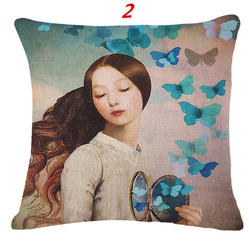 taie d oreiller papillon ⑥Maiyubo Belle Femmes Décoratif Taie d'oreiller Attrayant Taie d  taie d oreiller papillon