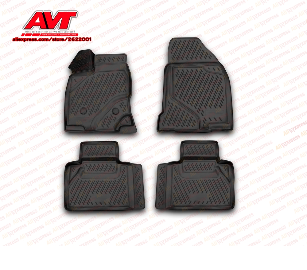Floor mats case for Ford Edge 2013 4 pcs rubber rugs non slip rubber interior car styling accessories