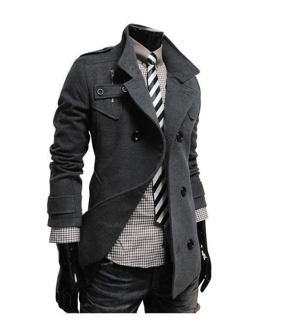 Os recém-chegados frete grátis único casaco de lã homens jaquetas casuais para homens 3 cores m l xl xxl