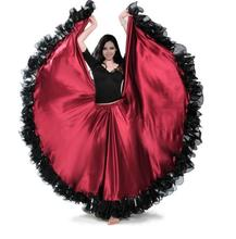1 piece 360 degree The Opening Dance Modern Full-skirted Dress Spain Bullfighting Skirt Long Sleeve Costumes