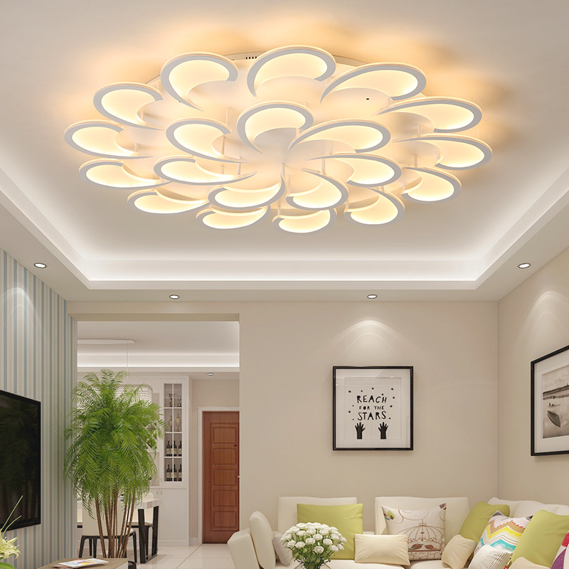 New Arrival White Finish Modern Led Ceiling Lights For Living Room Master Bedroom Fixtures AC85-265V Ceiling Lamp бомбер printio pixel pink