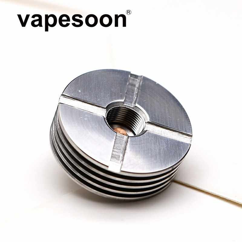 Stainless Steel 22mm 24mm 25mm  Slotted 510 Heat Sink For 510 Thread Adaptor RDA RDTA Atomizers Electronic Cigarette Box Mod