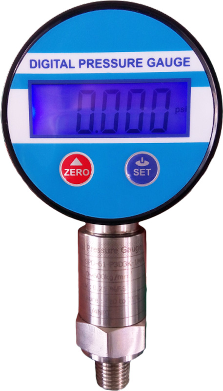 Free shipping 60Mpa 0.25% Battery-Powered Digital vacuum pressure gauge psi/Bar/ kg/m2/Kpa free shipping digital pressure vacuum gauge wk 688h high pressure
