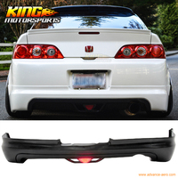 FOR 05 06 Acura RSX DC5 Coupe 2Dr Mugen Style Rear Bumper Lip PU With LED