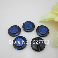 CM553 60pcs Beautiful 28mm Round Resin Blue Button For Clothes Sewing Craft