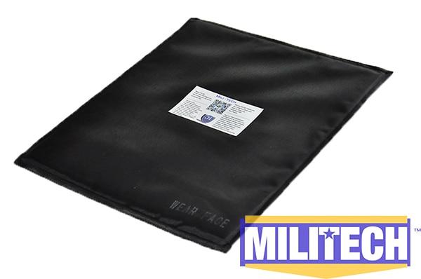 10'' x 12'' T Cut Bulletproof Aramid Ballistic Panel + E2 Stab Resistant Body Armor Soft Armor NIJ Level IIIA 3A NIJ 0115.00