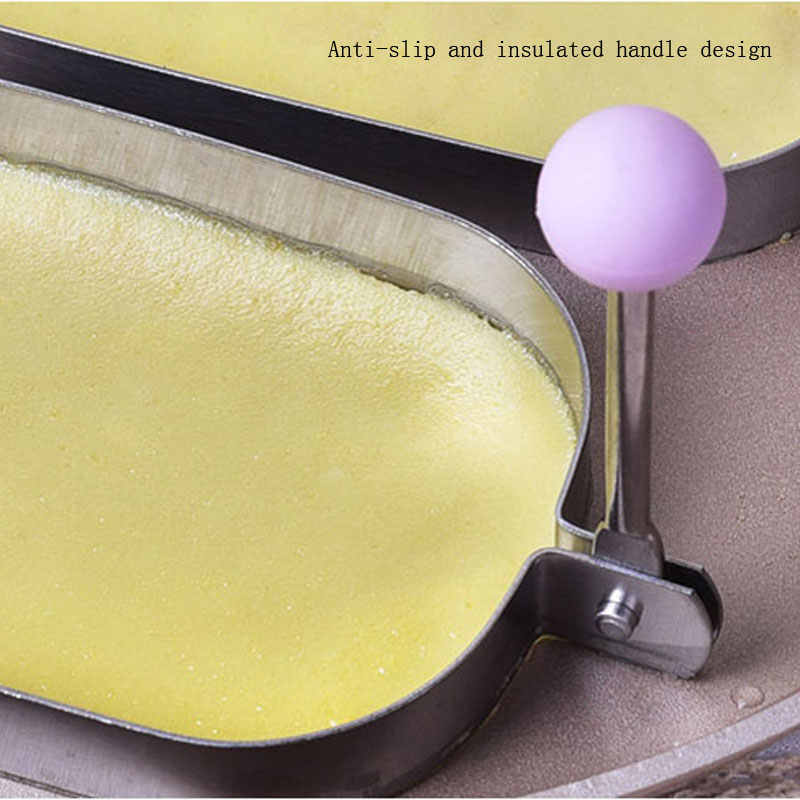 Stainless Steel Mini Mousse Cake Dessert Ring Mold Non-Stick Pastry Layer  Pancake Mould Baking Dish Rectangle Pan Bakeware Tools
