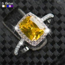 New Big Promotion 2ct Real 925 Silver Ring Element imitated Zirconia Rings For Women Wholesale Wedding Engagement Jewelry
