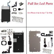 Pour iphone 6 6p 6s 6sp 7 7p 8 8plus ensemble complet pièces de réparation LCD affichage pièces de réparation avant caméra oreille haut parleur plaque accueil bouton