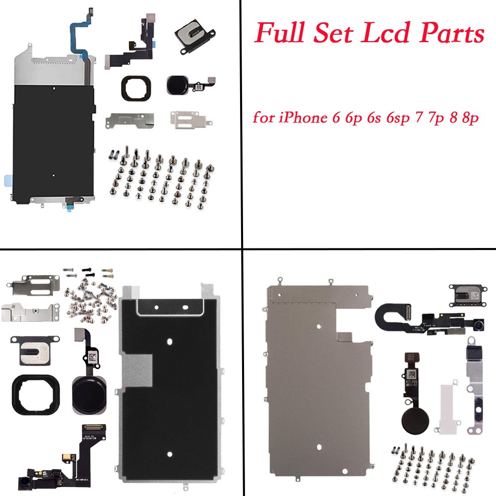 for iphone 6 6p 6s 6sp 7 7p 8 8 PLUS Full Set Repair Parts LCD Display Repair Parts Front Camera Ear Speaker Plate home button image