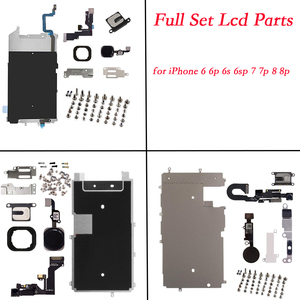 Image 1 - for iphone 6 6p 6s 6sp 7 7p 8 8 PLUS Full Set Repair Parts LCD Display Repair Parts Front Camera Ear Speaker Plate home button