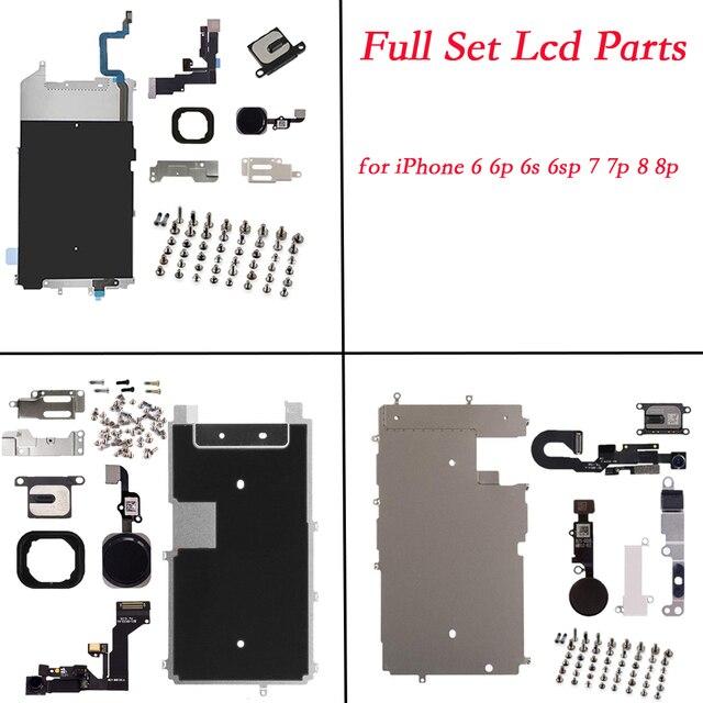 のための iphone 6 6p 6s 6sp 7 7 1080p 8 8 プラスフルセット修理部品液晶ディスプレイの修理部品フロントカメラ耳スピーカープレートホームボタン