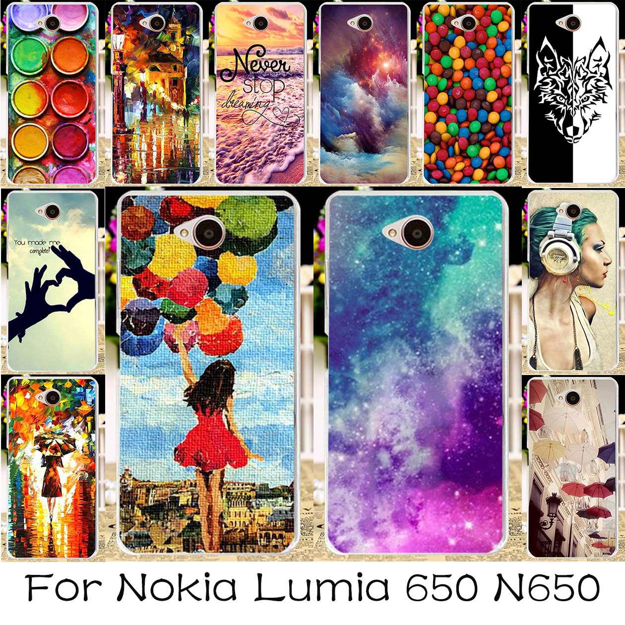 new concept a85bb 5f303 US $2.22 |TAOYUNXI DIY Painted Silicone Plastic Phone Case For Microsoft  Nokia Lumia 650 N650 5.0 inch Bag Cover For Nokia Lumia 650-in Fitted Cases  ...