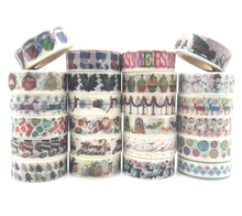 christmas jiataihe washi tape Christmas japanese rice paper printing masking tape Merry Christmas tree washi tape free shipping