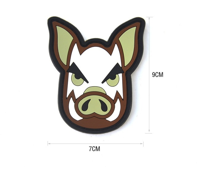 Populaires TACTICAL PIG Hook & Loop BACKED PVC RUBBER PATCH Airsoft Morale  PA78