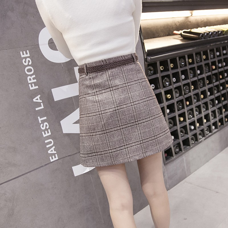 Fashion plaid skirt 3