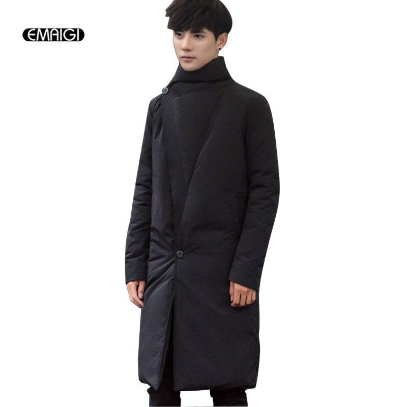 Men White Duck Down Jacket Male Winter Coats Warm Long Parkas Casual Thicken Outwear цены онлайн