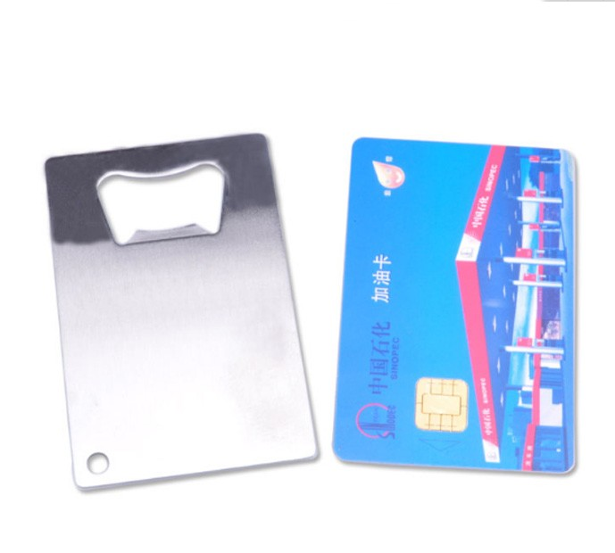 1000pcs credit card sized bottle opener custom company logo engraved printed metal business card - Credit Card Bottle Opener