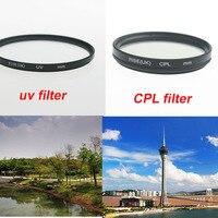 RISE (UK) 55mm Ultra Violet UV filter+Circular polarizing CPL C PL 55 mm lens filter for Canon Nikon Sony Camera lens