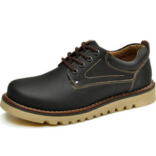 Europe style Men's casual shoes Genuine Leather lace-up Motorcycle Martin shoes zapatos mujer huarche yeezy