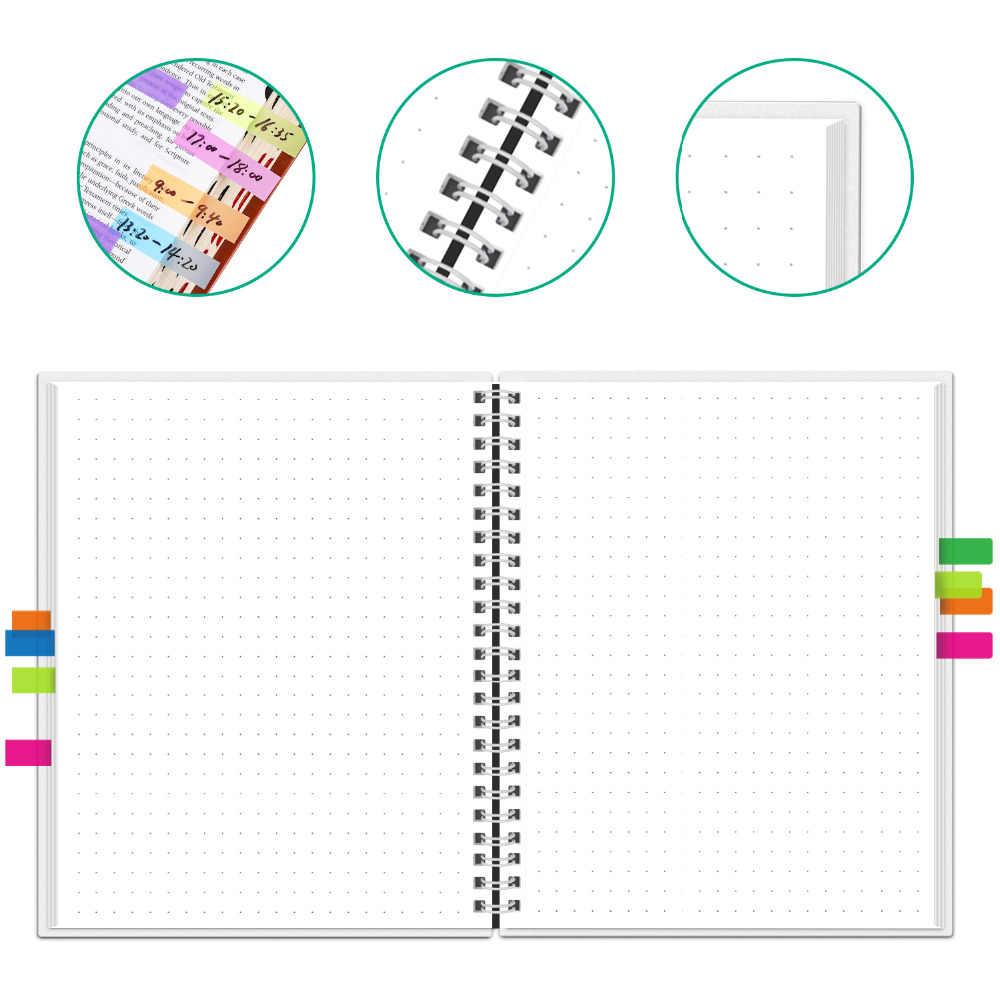 NEWYES точка сетки Смарт многоразовые стираемые спираль A4 блокнот бумажный блокнот дневник офис школьные путешествия рисование подарок