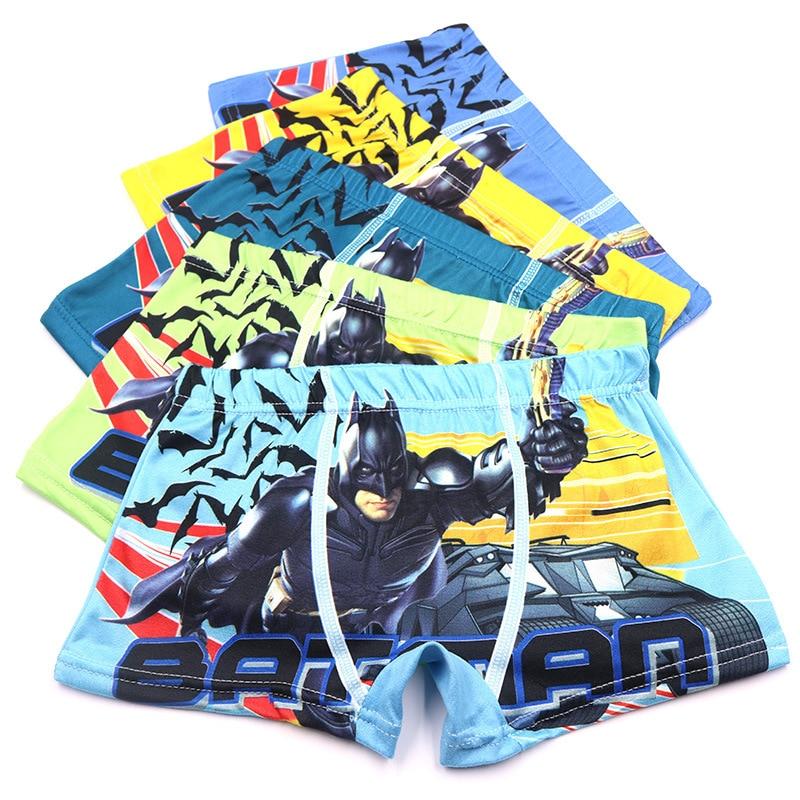 5pcs/set 2-10Year Microfiber Cartoon Batman Boys Boxers Soft Shorts Child Underwear for Boy Boxer Briefs Kids Children Panties