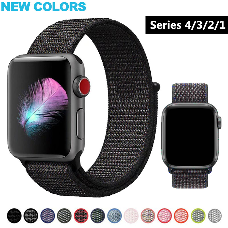 Sport Watchband For Apple Watch 4 3 2 band 40mm 44mmWatch Band Strap for Iwatch series 4 3 2 1 Bracelet strap 38mm 40mmSport Watchband For Apple Watch 4 3 2 band 40mm 44mmWatch Band Strap for Iwatch series 4 3 2 1 Bracelet strap 38mm 40mm