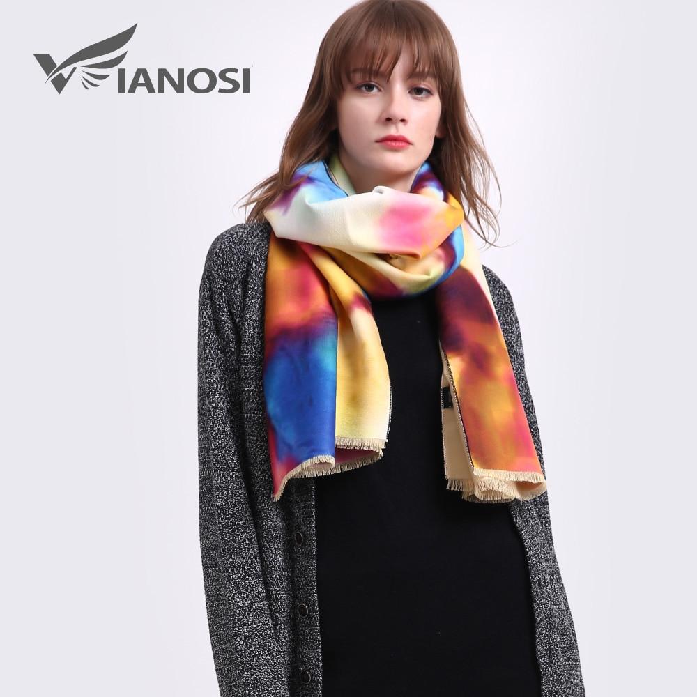 VIANOSI Clearance Sale Cashmere Scarf Women Brand Thicken Woman Foulard Wool Bufandas Warm Bandana Winter Shawls and Scarves