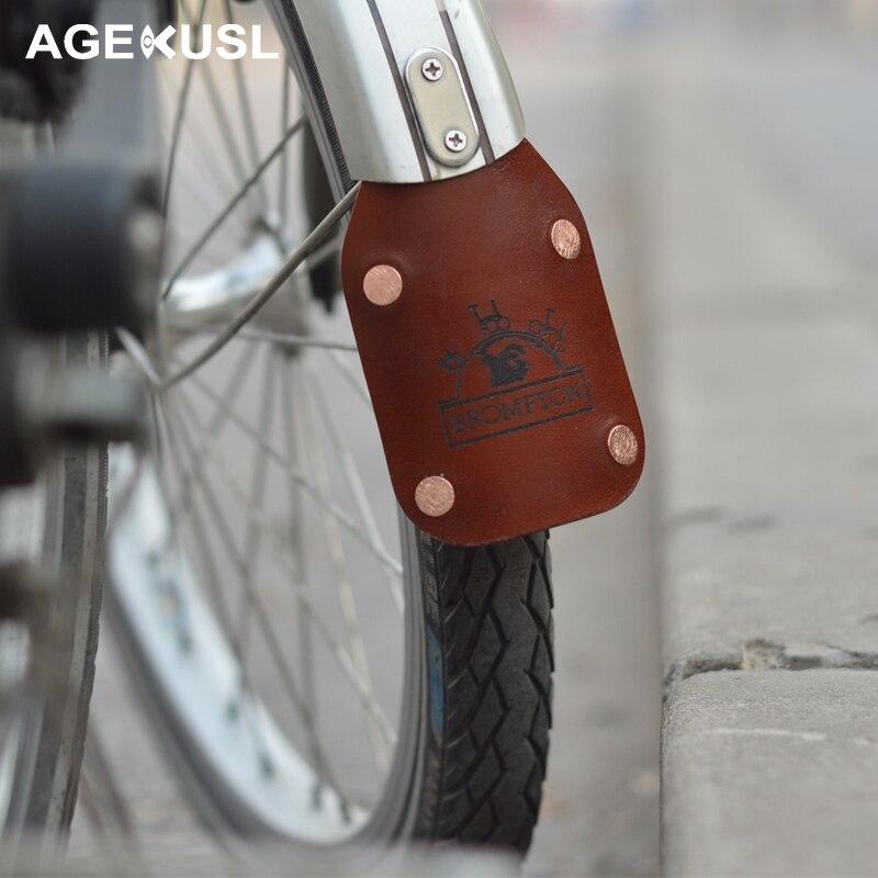 TWTOPSE Waterproof Leather Mudguard Fender For Brompton Folding Bike Bicycle Handmade Fenders Mud Guards Part Fender
