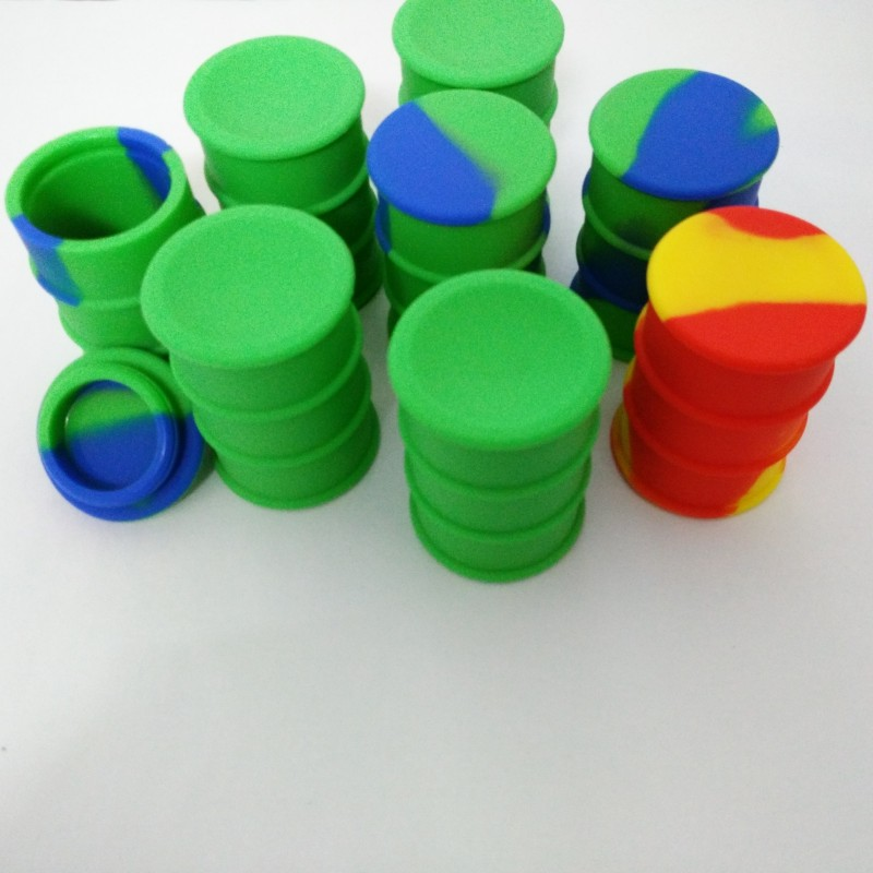 Large Oil Drum Barrel Silicone Jars Dab Wax Container&butane Oil Silicone Container