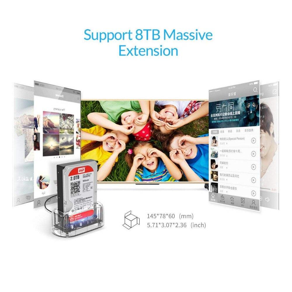 ՕՐԻԿՈ թափանցիկ 2.5 / 3.5 դյույմ սաթսա USB - Արտաքին պահեստավորման սարքեր - Լուսանկար 2