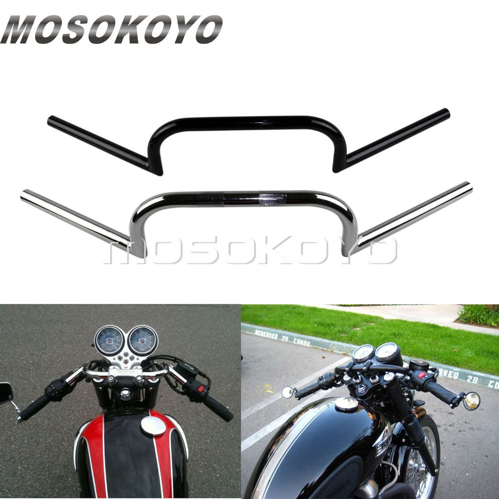"Custom 1/"" 25mm Drag Handlebar Bar Chrome For Harley Cafe Racer Motorcycle"