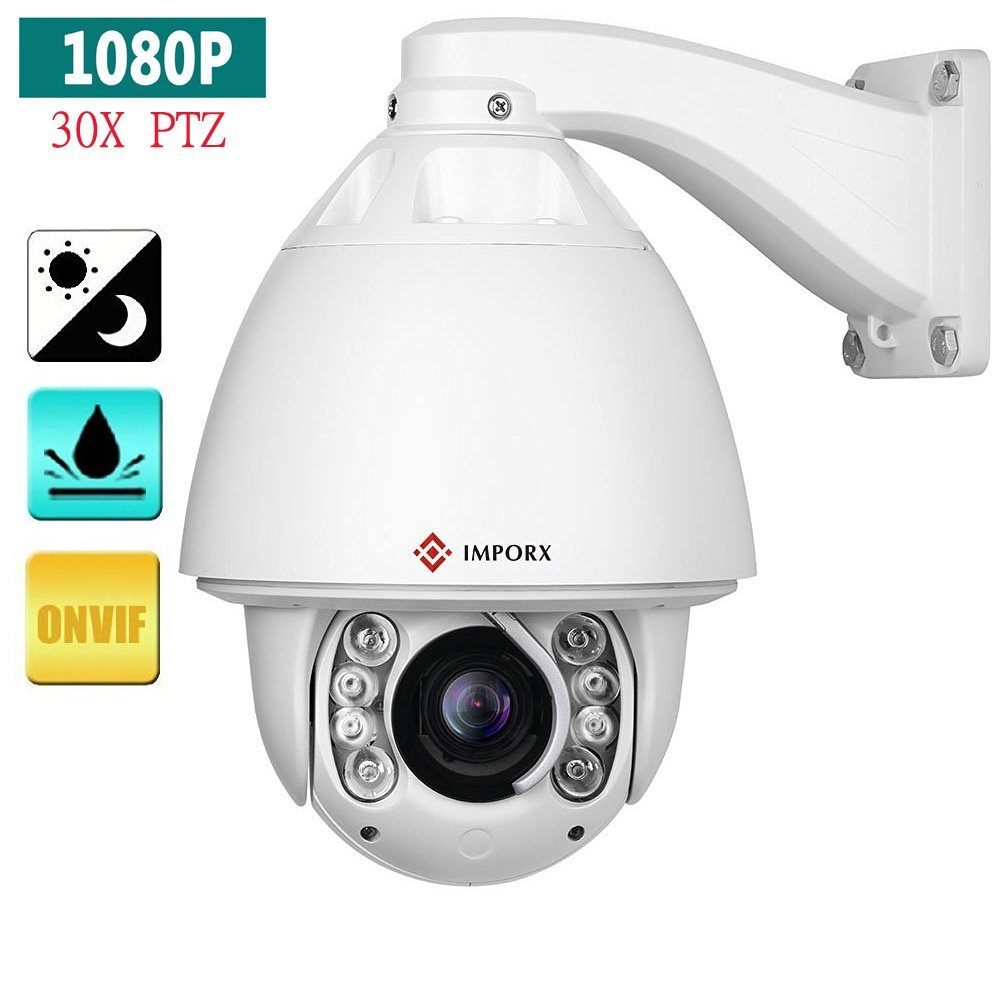 2018 IMPORX Blue Iris CCTV Camera 30X Zoom audio IR 150M High Speed Dome Network 1080P Auto Tracking PTZ IP Camera with wiper cctv ip camera 20x optical zoom blue iris full hd 1080p auto tracking ptz ip camera with wiper ir 150m high speed dome camera