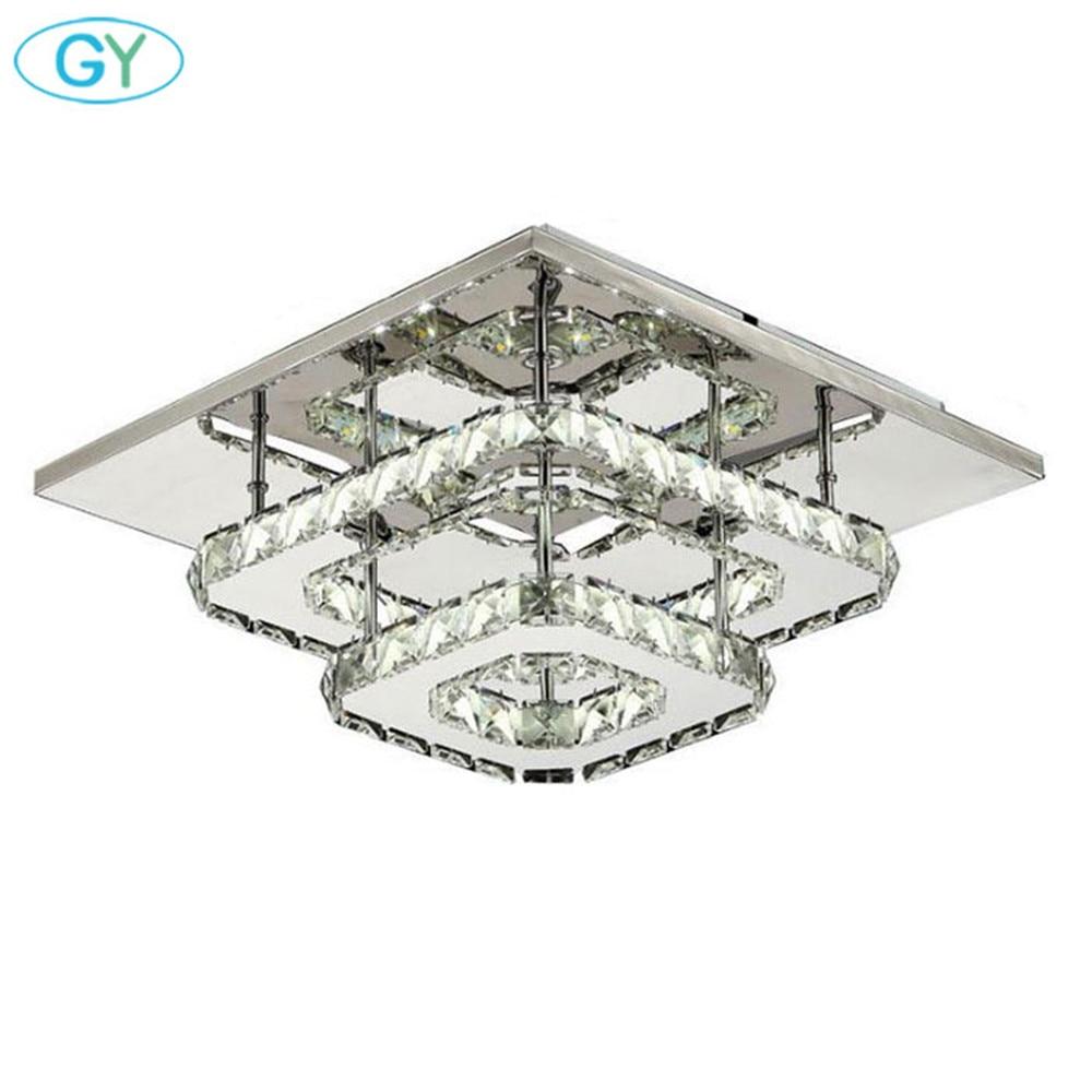 US $69.99 |AC100 240V Moderne kristall lampe led deckenleuchte edelstahl  esszimmer schlafzimmer wohnzimmer lampen art deco hause beleuchtung-in ...