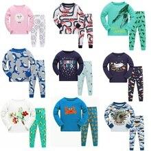 Купить с кэшбэком Brand New Boys Pajamas Kids Animal Sleepwear Girls Pajamas Pijama Menina Kids Nightwear Baby Pyjamas for 3-8 Years