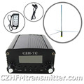 CZH CZE 5w 7w FM stereo PLL transmitter 1/2 WAVE FM antenna + Power supply kit