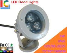 High-quality 3W LED Floodlights IP65 High Power Spotlight 12V 110V 220V advertising lights shine tree lawn lamp 4PCs/Lot