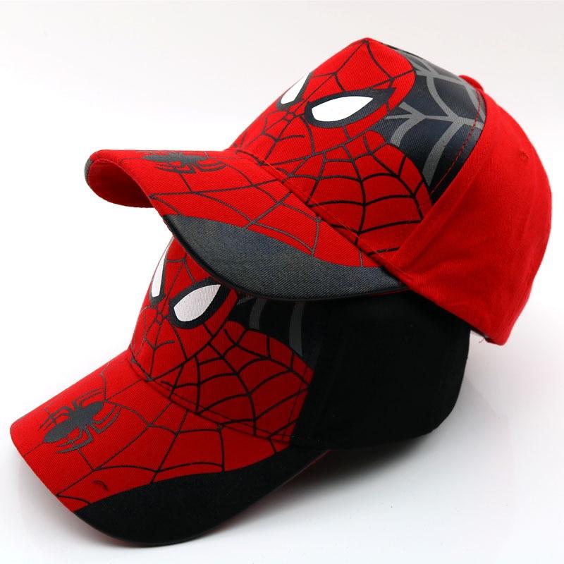 New Kids Baseball Cap Fashion Spider-man cosplay costums Snapback Caps Children Summer Hats Sun Hat Spider-man costumes hat