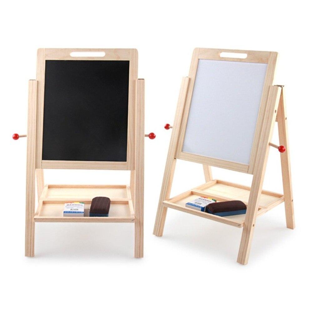 Tableau noir en bois réglable en hauteur Double face planche à dessin enfants apprenant tableau d'écriture Double face - 3