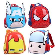 2017 Disney Marvel Backpack Lovely Cartoon Figure Mini Polyester Kids Educational Toys Backpack for Boys Girls Children