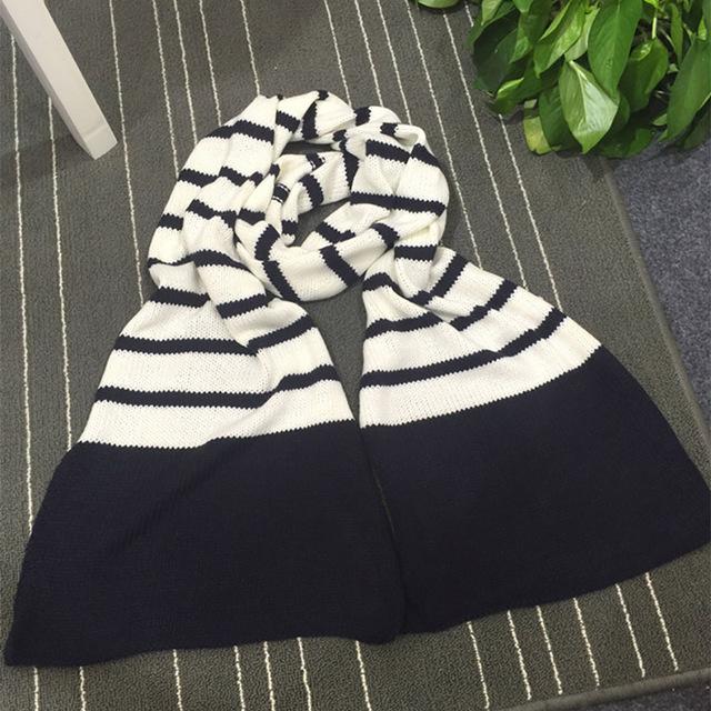 Otoño e invierno caddice bufanda hombres y mujeres amantes de la bufanda que hace punto grueso largo invierno de la bufanda con estilo estudiante cómoda bufanda