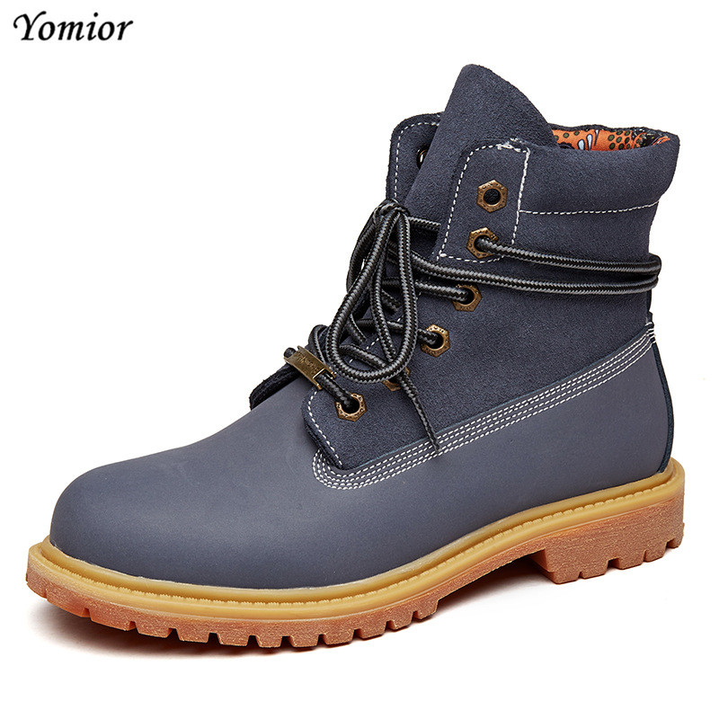Yomior Big Size Yellow Women Boots Real Leather Ankle Tooling Boots Fashion High Quality Desert Boots Casual Winter Spring Shoes high quality trumpf style press brake tooling special tooling bending dies