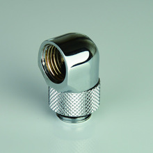 цена на Black Silver G1/4'' thread 90 degree Rotary Fitting Adapter Rotating 90 degrees water cooling Adaptors metal connector
