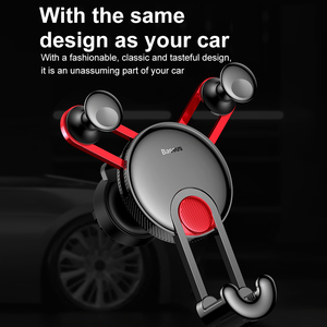 Image 2 - Baseus Gravity Car Holder For Phone in Car Air Vent Clip Mount Stand Universal Car Phone Holder for iPhone Samsung Phone Bracket