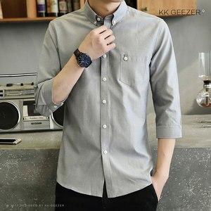 Image 4 - Mens Tuxedo Shirt Three Quarter Formal Business Social Slim Fit Long Sleeve Casual Button Down Anti wrinkle Dress Shirts
