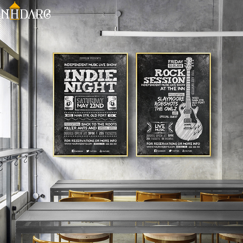 Office Cafe Decoration Indie Rock Boombox Quote Posters and Prints Canvas Art Paintings Wall Pictures for Living Room Home Decor image